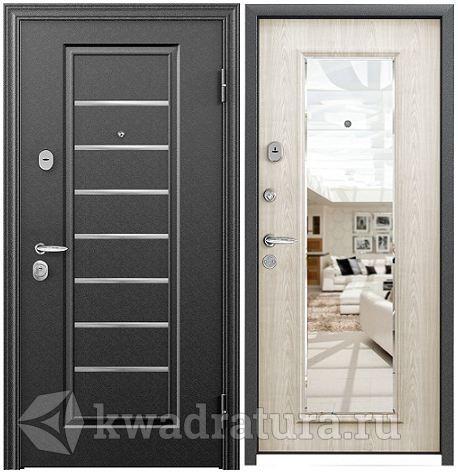 дверь металлическая супер с зеркалом