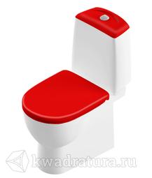 Унитаз-компакт Sanita Luxe Best красная крышка микролифт