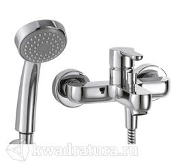 Смеситель для ванны и душа Bravat F63783CB Stream с душевой лейкой