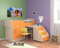 Кровать Дюймовочка 2 оранжевая