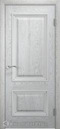 Межкомнатная дверь Двери и К 65 Эрика ДГ дуб молочный патина серебро