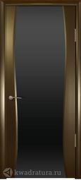 Межкомнатная дверь Кипарис 2 Венге стекло черное