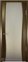 Межкомнатная дверь Кипарис 2 ДО Венге стекло белое