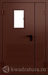 Дверь противопожарная со стеклом ДПМO EI60-02 Ral 8017