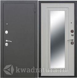 Входная дверь Феррони Гарда 6 мм Зеркало Белый ясень