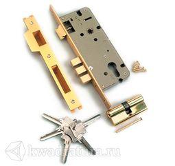 Механизм под ключ 3 ригеля Archi матовое золото