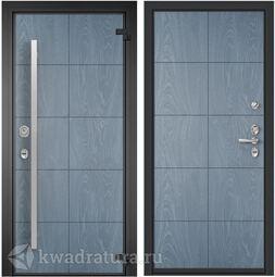 Дверь входная алюминиевая Торэкс Domani 100 ФМ Синий гиацинт/ФМ Синий гиацинт