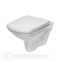 Унитаз подвесной безободковый Cersanit Carina сиденье микролифт