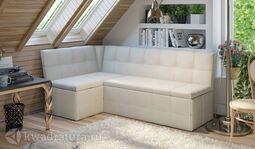 Кухонный уголок Домино Скамья-диван угловая со спальным местом Кашемир крем