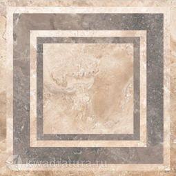 Напольная плитка М-Квадрат Конкорд Деко2 коричневый 45х45 см