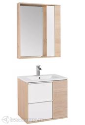 Комплект мебели для ванной Акватон Бостон 60 белый/дуб эврика