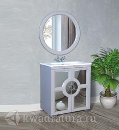 Комплект мебели для ванной Atoll Бишо 80 платиновый