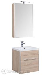 Комплект мебели для ванной Aquanet Августа 58 дуб сонома