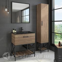 Комплект мебели для ванной Comforty Бредфорд 75 дуб темный
