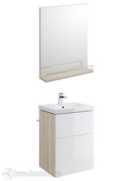 Комплект мебели для ванной Cersanit Smart 50 белый/ясень