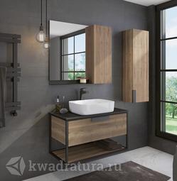 Комплект мебели для ванной Comforty Кёльн 90 дуб темный