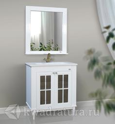 Комплект мебели для ванной Atoll Милана 80 белый глянец