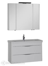 Комплект мебели для ванной Aquanet Орлеан 105 белый