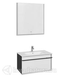 Комплект мебели для ванной Roca Aneto 80 белый глянец/черный