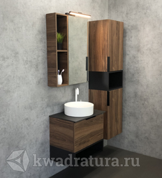 Комплект мебели для ванной Comforty Штутгарт 60 темно-коричневый