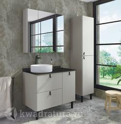 Комплект мебели для ванной Comforty Сорренто 90 светло-серый