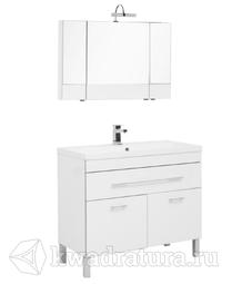 Комплект мебели для ванной Aquanet Верона 100 белый
