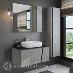 Комплект мебели для ванной Comforty Эдинбург 90 светлый бетон