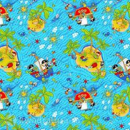 Детский ковролин Нева Тафт принт Острова 500