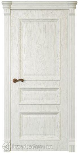 Межкомнатная дверь Магнолия3 ДГ Дуб белый жемчуг