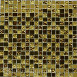 Мозаика стеклянная Bonaparte Mirror gold 30х30