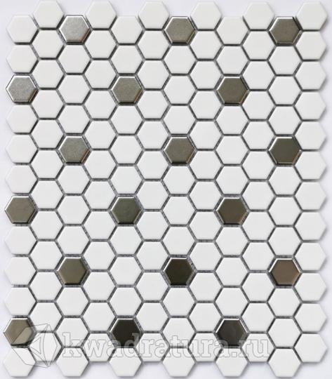 Мозаика керамическая Bonaparte Babylon silver (Matt) 26х30