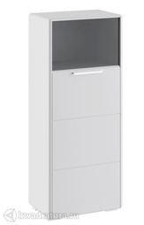 Шкаф Наоми комбинированный с 1 дверью белый глянец