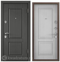Дверь входная стальная Торэкс Delta М 10 ПВХ Каштан темный D6-15/ПВХ Дуб белый матовый D10-Dv1, НК15