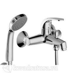 Смеситель для ванны и душа Bravat F6135188CPBRUS Fit с душевой лейкой