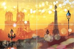 Панно Муза Керамика Paris из 4-х плиток 60x40