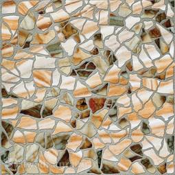 Напольная плитка М-Квадрат Мюнхен Камни коричневый 33х33 см
