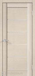 Межкомнатная дверь VellDoris Premier 1 Ясень капучино стекло мателюкс