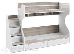 Ривьера Кровать двухъярусная с приставной лестницей