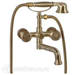 Смеситель для ванны и душа Bronze De Luxe 10119P Royal