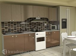 Кухонный набор Селена №68 Кофе 2800 мм