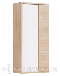 Шкаф подвесной для ванной Акватон Бостон 40 белый/дуб эврика