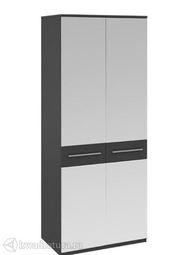 Шкаф Сити для одежды с зеркальными дверями