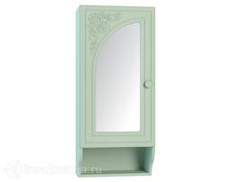 Полка с зеркалом левая Соня-К мята/салат