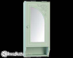 Полка с зеркалом правая Соня-К мята/салат