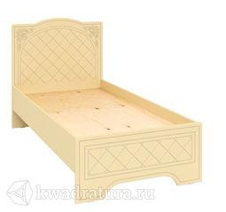 Соня-К Кровать 80 бежевый/бежевый