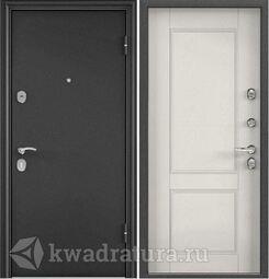 Дверь входная стальная Торэкс X5 Темно-серый букле графит/С6-1 ПВХ Дуб беленый