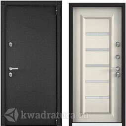 Дверь входная стальная Торэкс Snegir 20 MP Черный муар металлик/ПВХ Слоновая кость S20-04