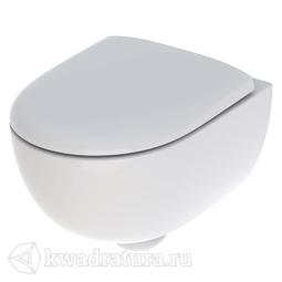 Унитаз подвесной безободковый Geberit Renova compact сиденье микролифт