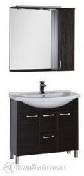 Набор мебель для ванной Aquanet Донна 90 венге