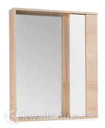 Зеркало-шкаф Акватон Бостон 60 белый/дуб эврика